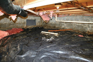 Crawl Space Repair Before in Moncton