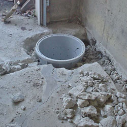 Placing a sump pit in a Bridgewater home