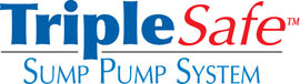 Sump pump system logo for our TripleSafe™, available in areas like New Minas