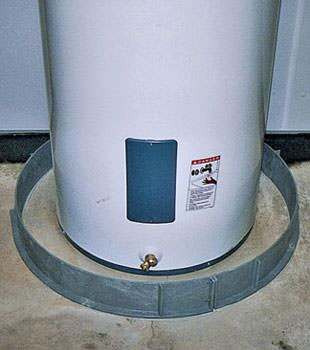 An old water heater in Rothesay, NS, NB with flood protection installed